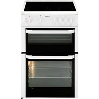 600mm Twin Cavity Electric Cooker Ceramic Hob White