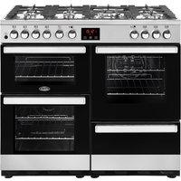 1000mm Dual Fuel Range Cooker 7 Burners Inc WOK S/Steel