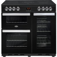 900mm Electric Range Cooker Ceramic Hob Black