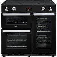 900mm Electric Range Cooker Induction Hob Black