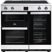 900mm Electric Range Cooker Induction Hob S/Steel