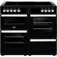 1000mm Electric Range Cooker 5-Zone Ceramic Hob Black