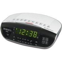 Dual Alarm Clock Radio MW/FM Snooze Auto Date