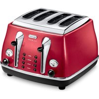 4-Slice Toaster 1800Watts Red Painted Stainless Steel