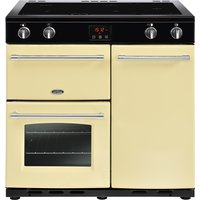 900mm Electric Range Cooker Induction Hob Cream