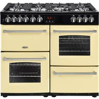 1000mm Dual Fuel Range Cooker 7 Burners Inc. WOK Cream