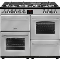 1000mm Dual Fuel Range Cooker 7 Burners Inc. WOK Silver