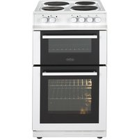 500mm Double Electric Cooker Solid Hob Fanned White