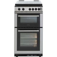 500mm Twin Cavity Gas Cooker 4 x Burner Gas Hob S/S