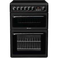600mm Double Electric Oven Ceramic Hob Dual Zone Black