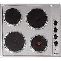 600mm Electric Hob 4 x Sealed Plate Stainless Steel