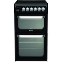 500mm Double Electric Oven Ceramic Hob Black