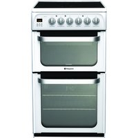 500mm Double Electric Oven Ceramic Hob Polar White
