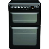 600mm Double Electric Oven Ceramic Hob Black