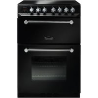 600mm Electric Double Oven Ceramic Hob Black/Chrome