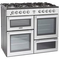 1000mm Dual Fuel Range Cooker 7 x Burners Silver