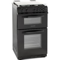 500mm Double Gas Oven & Grill Black