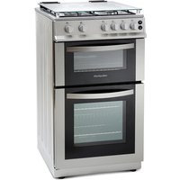 500mm Double Gas Oven & Grill Silver