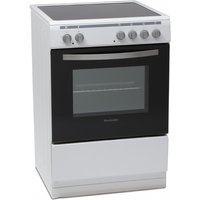 600mm Single Electric Oven andamp; Grill Ceramic Hob White