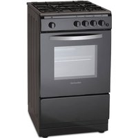 500mm Single Gas Oven & Grill Black