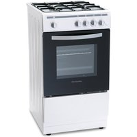 500mm Single Gas Oven & Grill White