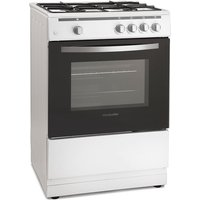 600mm Single Gas Oven & Grill White