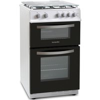 500mm Twin Cavity Gas Oven & Grill White