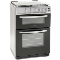600mm Twin Cavity Gas Oven & Grill Silver