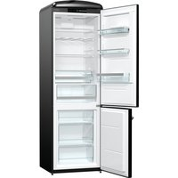 326litre RETRO Fridge Freezer Class A+++ Black