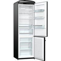 326litre RETRO Fridge Freezer Class A+++ Black