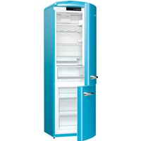 326litre RETRO Fridge Freezer Class A+++ Baby Blue