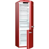 326litre RETRO Fridge Freezer Class A+++ Burgundy