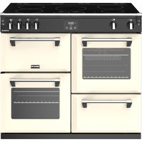 1000mm Electric Range Cooker Induction Hob Cream
