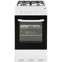 500mm Single Gas Cooker Integrated Grill White