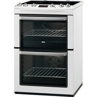 600mm Double Electric Cooker Induction Hob White