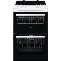 550mm Double Electric Cooker Ceramic Hob White