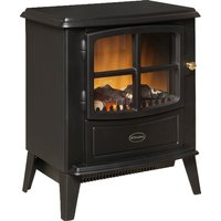 Compact Stove Fire Optiflame ® Log Effect Remote Black