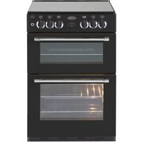600mm Mini Range Dual Fuel Cooker 4 Burner Hob Black