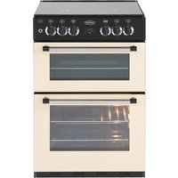 600mm Mini Range Dual Fuel Cooker 4 Burner Hob Cream