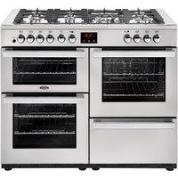 1100mm Dual Fuel Range Cooker 7 Burners Inc WOK S/Steel