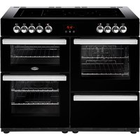 1100mm Electric Range Cooker 5-Zone Ceramic Hob Black