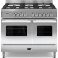 1000mm Twin Dual Fuel Range Cooker Gas Hob S/St