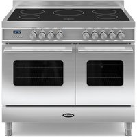 1000mm Twin Electric Range Cooker Induction Hob S/St