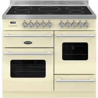 1000mm Twin Electric Range Cooker Induction Hob Cream