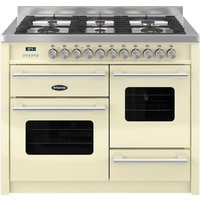 1100mm Twin Dual Fuel Range Cooker Gas Hob Cream