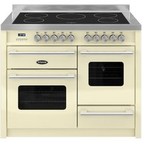 1100mm Twin Electric Range Cooker Induction Hob Cream