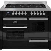 1100mm Twin Electric Range Cooker Induction Hob Black
