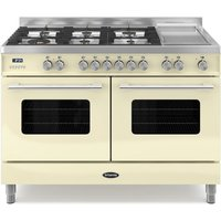1200mm Twin Dual Fuel Range Cooker Gas Hob Cream