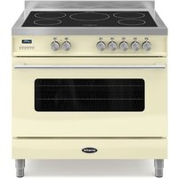 900mm Single Electric Range Cooker Induction Hob Cream