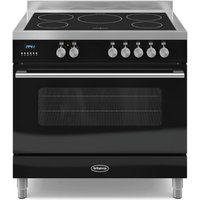 900mm Single Electric Range Cooker Induction Hob Black